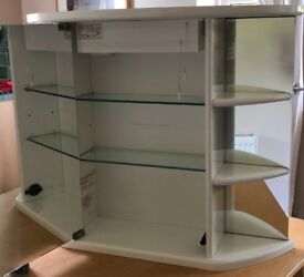 BATHROOM WALL CABINET- ROPER RHODES- WHITE AND GLASS