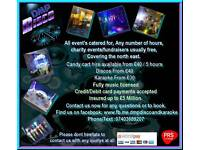 Mobile Disco, DJ, Karaoke and Candy Cart/Ferris Wheel hire, all events catered for
