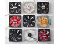 Computer Fans - CoolMaster, NZXT, 120mm, 12cm, 12v, Tower PC, Motherboard, PSU, Cooler, PC Case