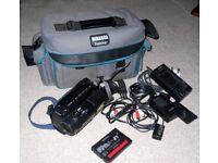 Sony CCD-TR330E Video8 8mm Camcorder Power Supply Battery AV Lead Tape Bag