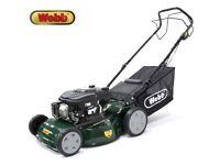 """Webb 18"""" 135cc Self-Propelled (Self-Drive) Petrol Lawn mower Lawnmower AS NEW + WARRANTY! RRP £240!"""