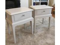 Pair of painted Stag bedside tables in Laura Ashley Dove Grey