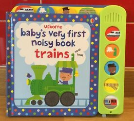 Brand New Usborne Baby's First Noisy Train Book
