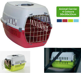 Details about Cat Carrier Transport Box Travel Cage Foldable Crate Portable Plastic