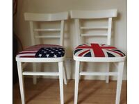 2 upcycled chairs