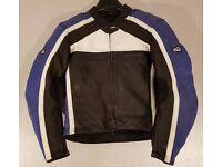Postage Available *Hein Gericke PSXR *Leather Motorcycle Jacket *Black Blue *Size 56 UK 44