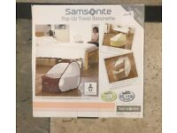 Samsonite Travel bassinet - used - excellent condition - in original box and packaging