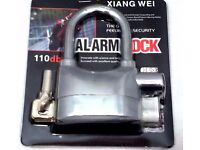 *** SALE Security Shed Garage Bike Motorbike Alarm Padlock Lock + 6 Batteries Extra Locks ***