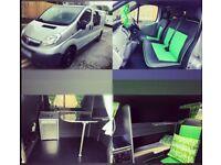 Vivaro Long Wheel Base Camper Van /campervan 5 seat, sleeps 4