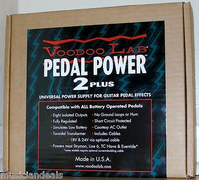 Voodoo Lab Pedal Power 2 Plus Power Supply NEW
