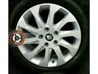 "16"" Genuine VW/Seat alloys 5x112, excellent condition, excellent Goodyear tyres"