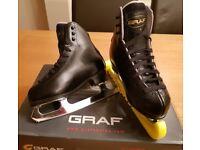 Boys Graf Bolero Ice Skates - Black (EU29/UK 11)
