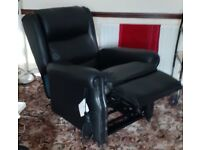 Oaktree mobility leather rise and fall electric multi position chair.
