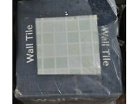 Ceramic wall tiles 2 boxes with mosaic style pattern - 10 tiles @ 250mm x 250mm each per box