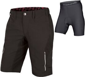 Endura SingleTrack III Baggy Cycling Shorts With Clickfast Liner AW17 Large NEW