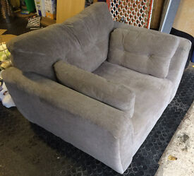 Armchair Large Beige good condition 1200mm W X 900mm. X 900mm