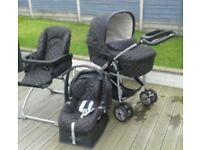 Mamas and papas ultima 8 in 1 combo + car seat base