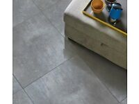 Grey Porcelain tiles - lappato effect - semi polished - for walls, floors