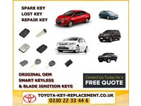 Toyota key replacement, replace lost Toyota keys without replacing ECU Manchester Leeds Liverpool