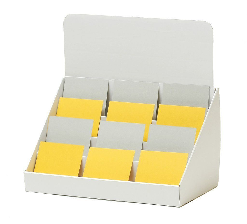Multiple Pocket Counter Top Cardboard Leaflet Greeting Card Holder