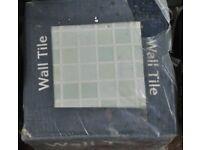 Johnson ceramic mosaic patterned wall tiles - 18 tiles 200mm x 75mm