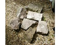 7 x large stones rocks