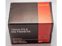 Sigma 15mm F2.8 Fisheye