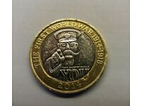World War 1 Lord Kitchener rare 2 Pound Coin
