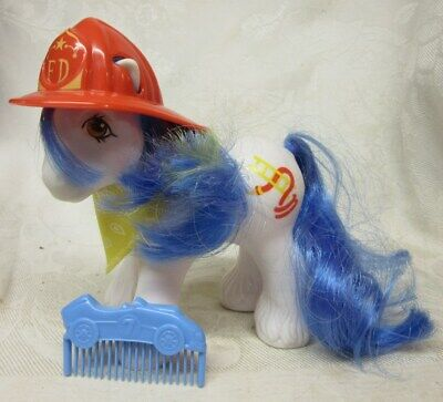 My Little Pony BIG BROTHER CHIEF, Fireman with Fire Hose & Accessories  VGC   G1