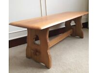 Arts & Crafts Oak Long Plank Rustic Gothic Farmhouse Coffee Occasional Wood Side Table (120cm)