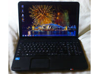 "Toshiba C850-1GL 15.6"" screen, fast Intel dual core, 320gb laptop. Mint condition."