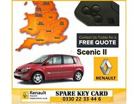 Replacement Renault Megane Scenic Laguna Espace Clio Key Cards All Keys Lost Croydon 0330 22 33 446