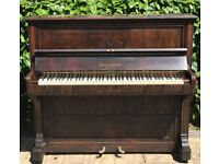 Collard & Collard Traditional Upright Piano in Choco Brown Stain Finish LOCAL DELIVERY POSSIBLE