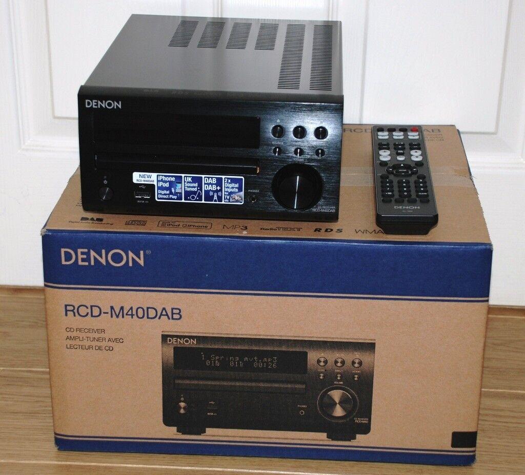 DENON DM40 DAB RADIO SYSTEM & DALI ZENSOR 1 SPEAKER PACKAGE