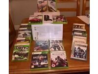 XBOX 360 250GB, 2 wireless controllers, Kinect plus 18 games - all boxed