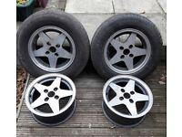"""Set of 4 x 14"""" alloy wheels"""