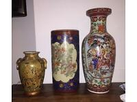 Royal satsuma vases and Japanese Vases 4 for £120 Ono