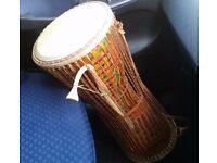 Talking drum/Nigeria/Ghana/west Africa talking drum/not Djembe