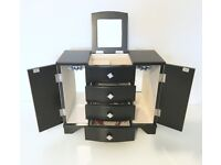 Black Wooden Jewellery Accessory box Modern Great Condition