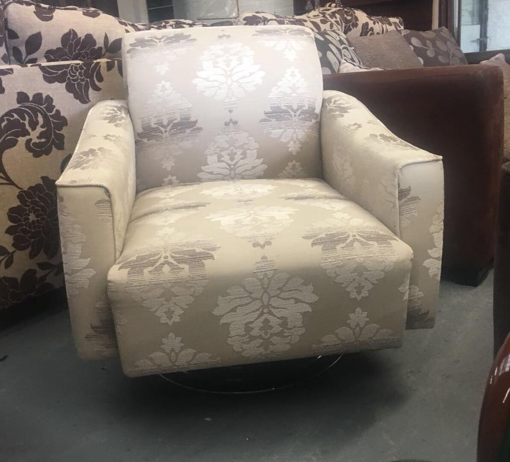 SILVER ARMCHAIR IN GOOD CONDITION ** | In Larne, County Antrim | Gumtree
