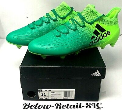 6a06365f317 Adidas X 16.1 FG Soccer Cleats Solar Green Black Core Green BB5839 Men s SZ  11