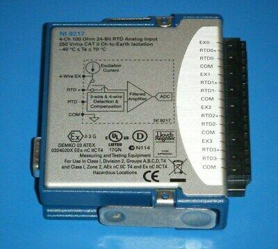 Ni 9217 4ch 0-400 24bit Rtd Module Cdaqcrio National Instruments Tested