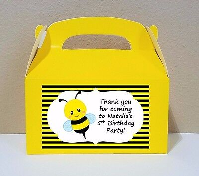 12 Bumble Bee Favor Boxes Bee Candy - Bumble Bee Candy