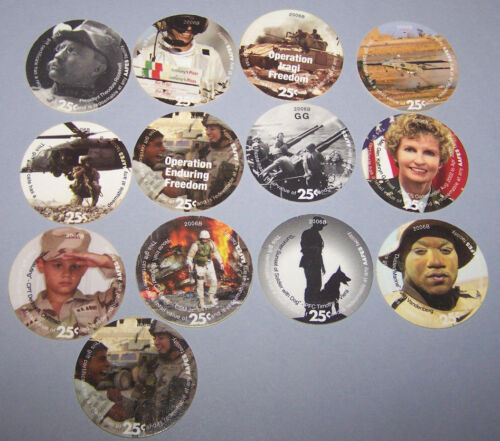 9th  Print Set  25 Cent AAFES  Pogs 2006B printing Extra Fine to About Unc.