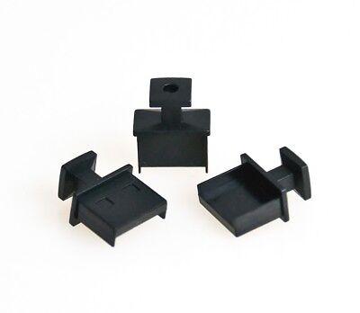 3x Schutz-Abdeckung Kappe Deckel Cap für USB A-Buchse schwarz Cover Staubschutz