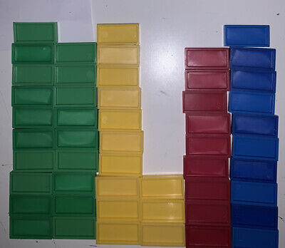 Donino Express Spare Domino Tiles X52. Blue Green Red Yellow for sale  Shipping to Ireland