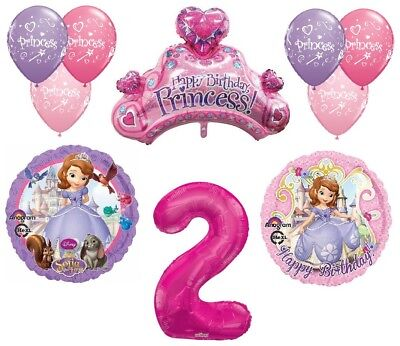 Disney's Sofia the First 2nd Happy Birthday Party Balloons Decorations Supplies - Sofia The First Birthday Party Decorations