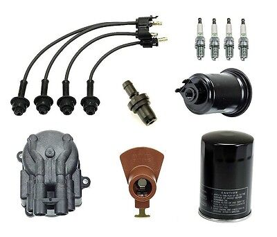 Toyota Van 84-86 2.0 2.2 Ignition Tupe Up Kit Filters Cap Rotor Spark Plugs Wire on sale