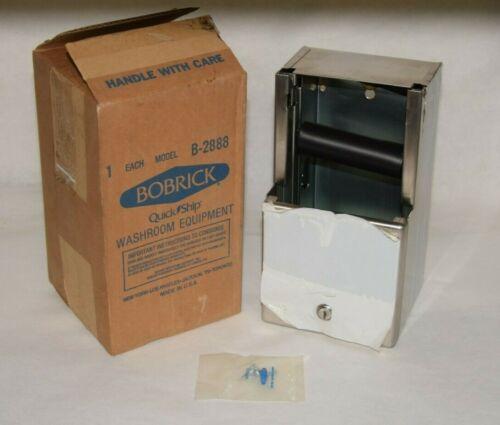 (NEW) BOBRICK B-2888 B2888 2-Roll Stainless Bath Tissue Dispenser