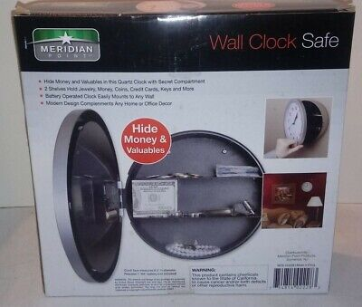 Meridian Point Wall Clock Safe